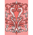Ornate colored pattern vector image vector image