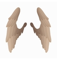 pair bird wings icon cartoon style vector image vector image