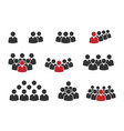 people group icon set working group team with vector image vector image