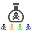 poison retort flat icon vector image
