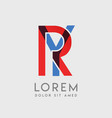 ry logo letters with blue and red gradation vector image vector image