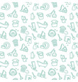 seamless background cleaning and housework vector image vector image
