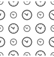 Seamless clock pattern vector image vector image
