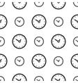 Seamless clock pattern vector image vector image