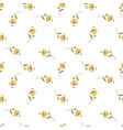 seamless pattern with cute yellow flower branches vector image vector image