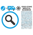 Search Icon with 1000 Medical Business Symbols vector image vector image