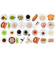 set asian food vector image