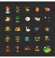 Set of farm and agriculture flat design icons vector image vector image