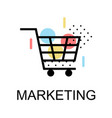 shopping cart icons for marketing on white vector image vector image