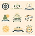 Summer sea retro labels vector image vector image