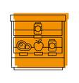 supermarket shop showcase fridge shopping vector image