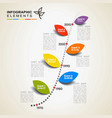 timeline infographics the conceptual vector image