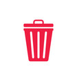 trash can garbage dustbin waste trashcan basket vector image vector image