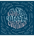 We wish you a merry Christmas handdrawn lettering vector image vector image