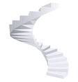 White Spiral staircase vector image