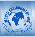 world environment day card vector image