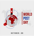 world post day vector image vector image