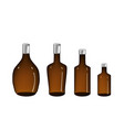brown alcohol bottle isolated on white vector image