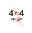 404 red plug vector image