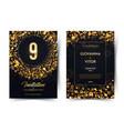 9th years birthday black paper luxury