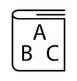 abc book outline icon linear style sign for vector image