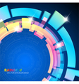 abstract background with rainbow colors vector image