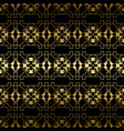 abstract golden texture seamless pattern vector image vector image