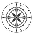 ancient compass icon outline vector image vector image