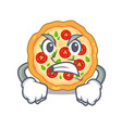 angry margherita pizza isolated with cartoons vector image vector image