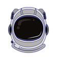 astronaut helmet equipment cartoon isolated blue vector image vector image