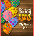 birthday party invitation card vector image vector image