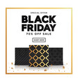 black friday sale banner 5 vector image vector image