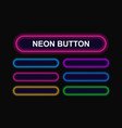 bright neon buttons vector image vector image
