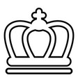 britain crown icon outline line style vector image vector image