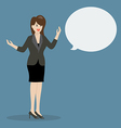 Business woman talking with body language vector image vector image