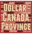 Canada text background wordcloud concept vector image vector image
