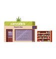 cannabis store marijuana products in organic shop vector image