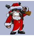cartoon soldiers dressed as Santa Claus vector image vector image