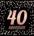 celebrating 40 anniversary emblem template design vector image vector image