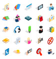 chat icons set isometric style vector image vector image