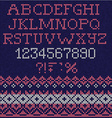 Christmas Font Scandinavian style seamless knitted vector image vector image