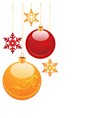 Christmas globes vector image vector image