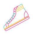 classic sneaker boot vintage sport vector image