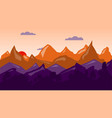 colorful mountain background sunrise time vector image