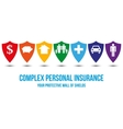 Complex personal insurance design concept vector image vector image