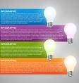 Creative 3D light bulb infographics design