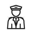flight captain vector image