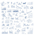 freehand drawing charts items vector image vector image