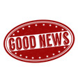 good news stamp vector image