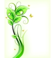 Green floral background vector image vector image